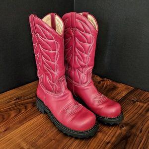Red Fluevog Cowboy Boots